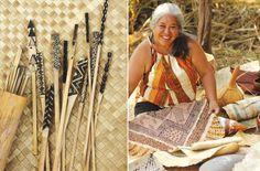 Lei Ishikawa, Kapa Maker, Hawaiian Cloth Artist, Kapa Ohe Kapala, Bamboo Stamps