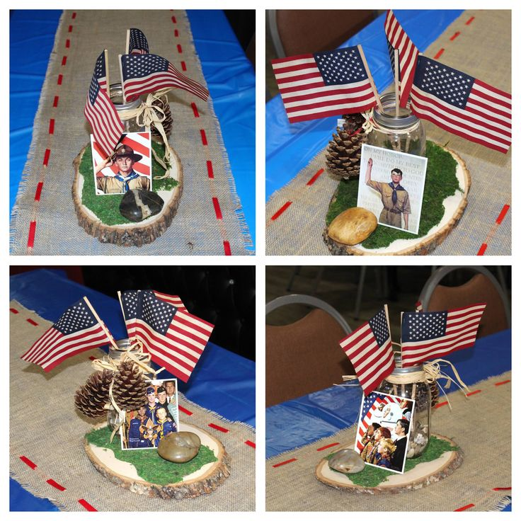 Centerpieces for my son s eagle scout court of honor using