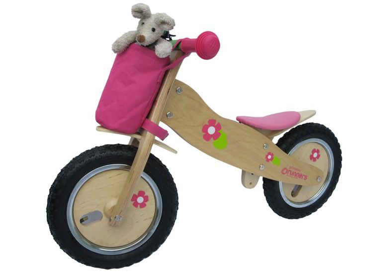How can you not love a bike that comes with a cute carry basket on the front. The perfect accessory for any little shopper. Princess Runners Balance Bike, Canada. $139.00