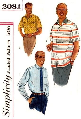 37 best Sewing Patterns : MEN\'S RETRO images on Pinterest ...