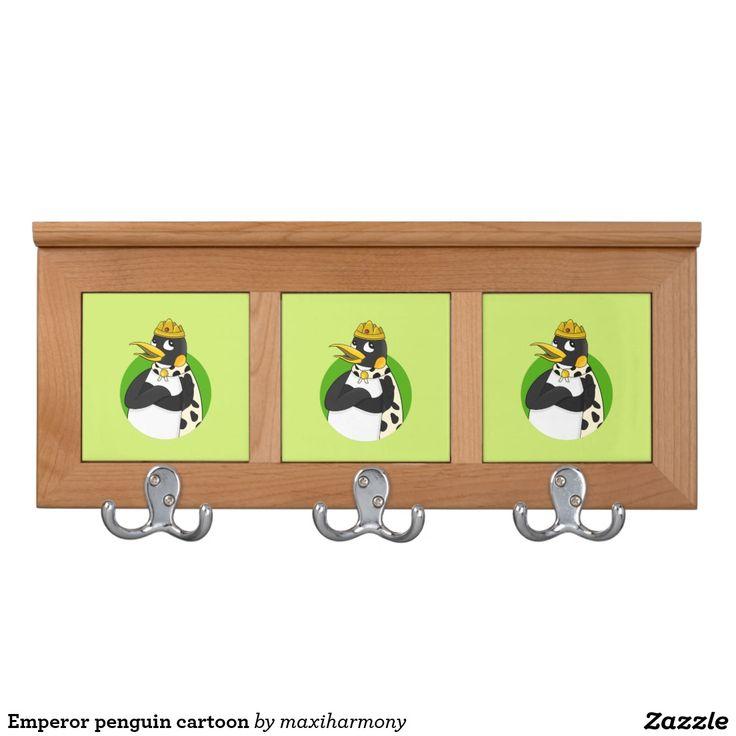Emperor penguin cartoon coat racks