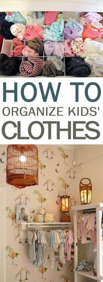 How to Organize Kids' Clothes - 101 Days of Organization
