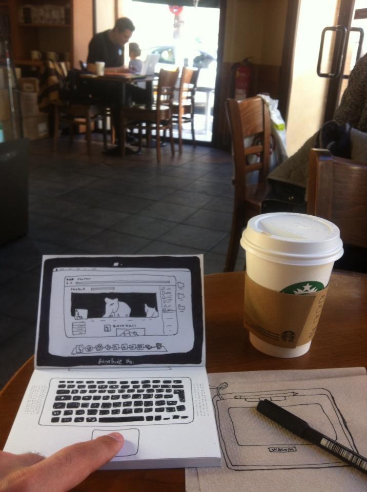 SketchShooting: Cada uno con su portátil