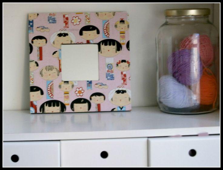 telas cajas y tinajas cmo decorar un espejo con tela ii