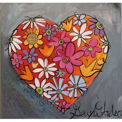 Found it at Wayfair - 'My Heart Blooms for You' by Gayla Hodson Painting Print on Wrapped Canvas