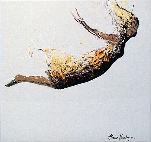 "Clare Hartigan ""Falling"" #flying #oiloncanvas #DukeStreetGallery"