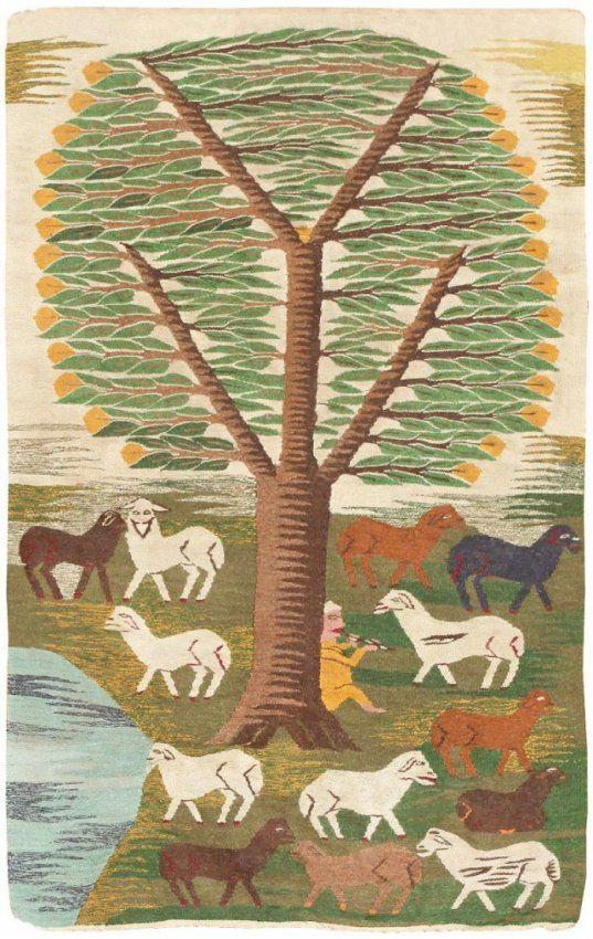 Vintage Swedish Scandinavian Tapestry kilim : Lot 112