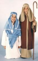 Child Mary & Joseph Costumes (don't forget the baby!) (also Joseph would be cool with a beard too.)