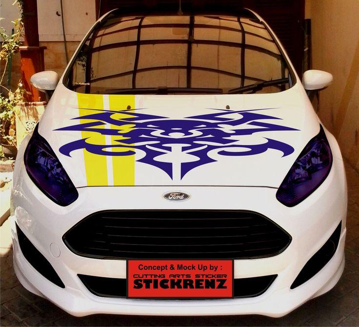 Car Custom Hood Cutting Sticker Concept - Fiesta 004