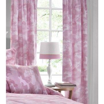 Pink Camo Buckmark Drapes / Curtains