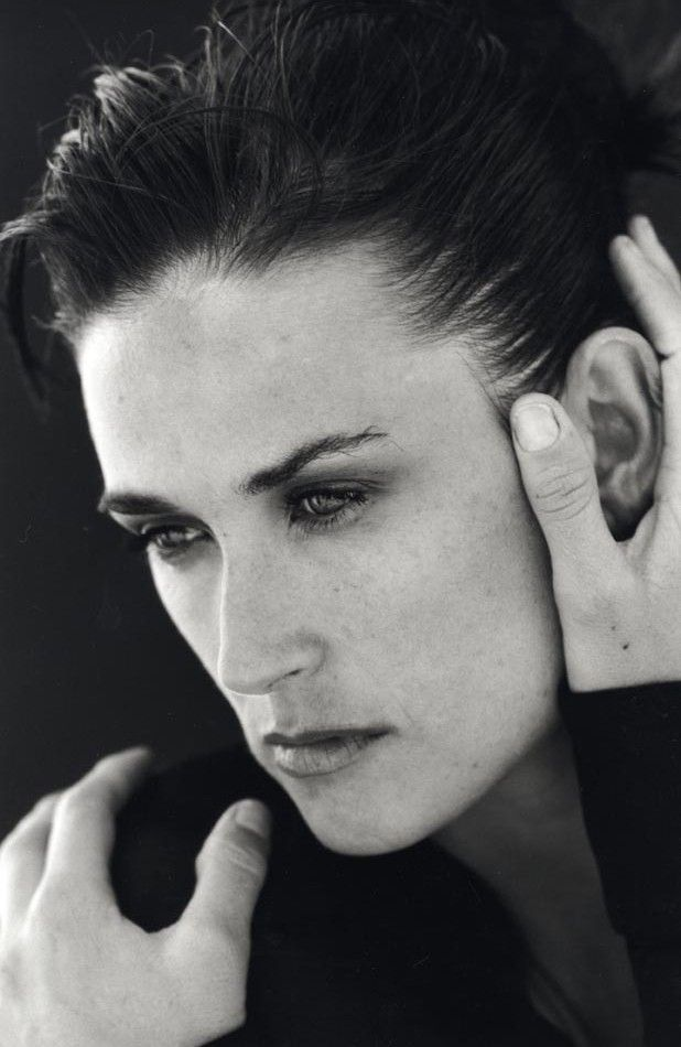 Demi Moore for Donna Karan FW 1996 by Peter Lindbergh