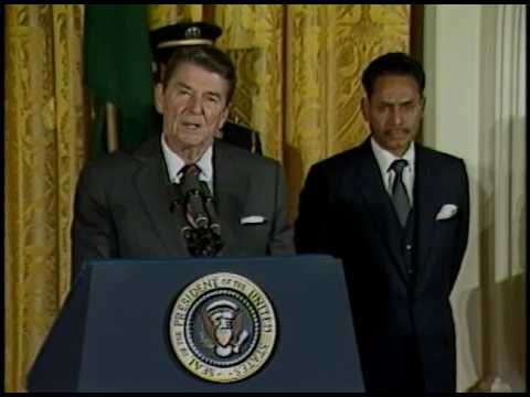President Reagan Meeting with Lieutenant General H. M. Ershad of Bangladesh on October 25, 1983 - YouTube