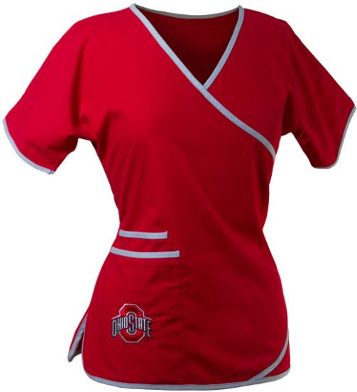 Ohio State Mock Wrap Scrubs For Women, cant wait to get this!