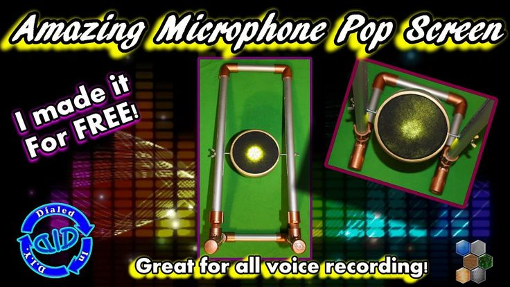 Microphone Filter - DIY Pop Screen to Improve Voice Recordings