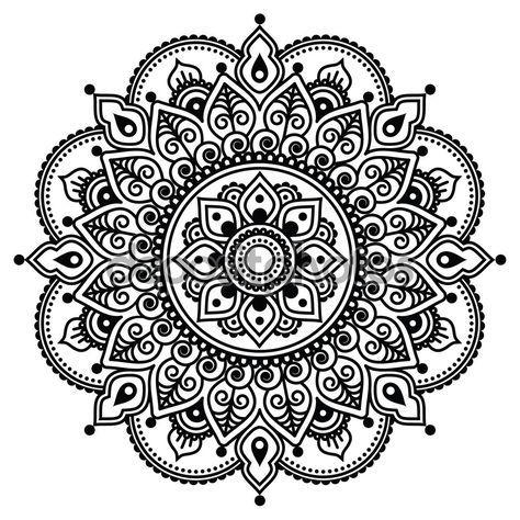 Ms de 25 ideas increbles sobre Patrones de henna en Pinterest