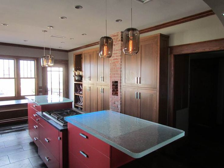 Even In A Ranch ThinkGlass Glass Countertops Are Great. This Ranch House  (note The