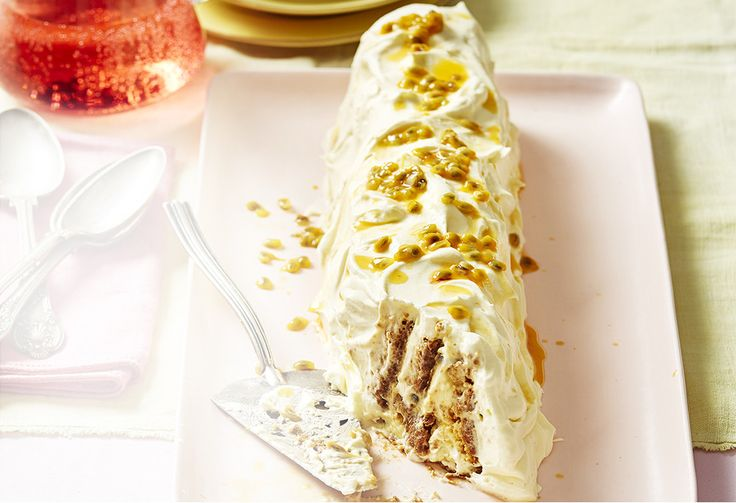 This is a cheat's treat dessert! The cheesecake biscuit log only takes 30 minutes to prepare, with the rest of the work done overnight by your fridge.