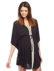 Crochet Detail Maternity Swim Cover-up