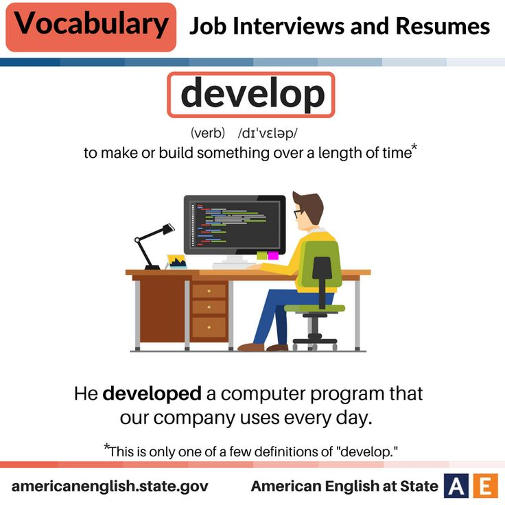 Vocabulary: Job Interviews and Resumes - Develop