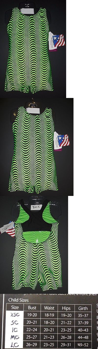 Leotards and Unitards 152354: Motion Wear Biketard Shorty Unitard Girls Gymnastic Lime And Black Racer Back -> BUY IT NOW ONLY: $34.5 on eBay!