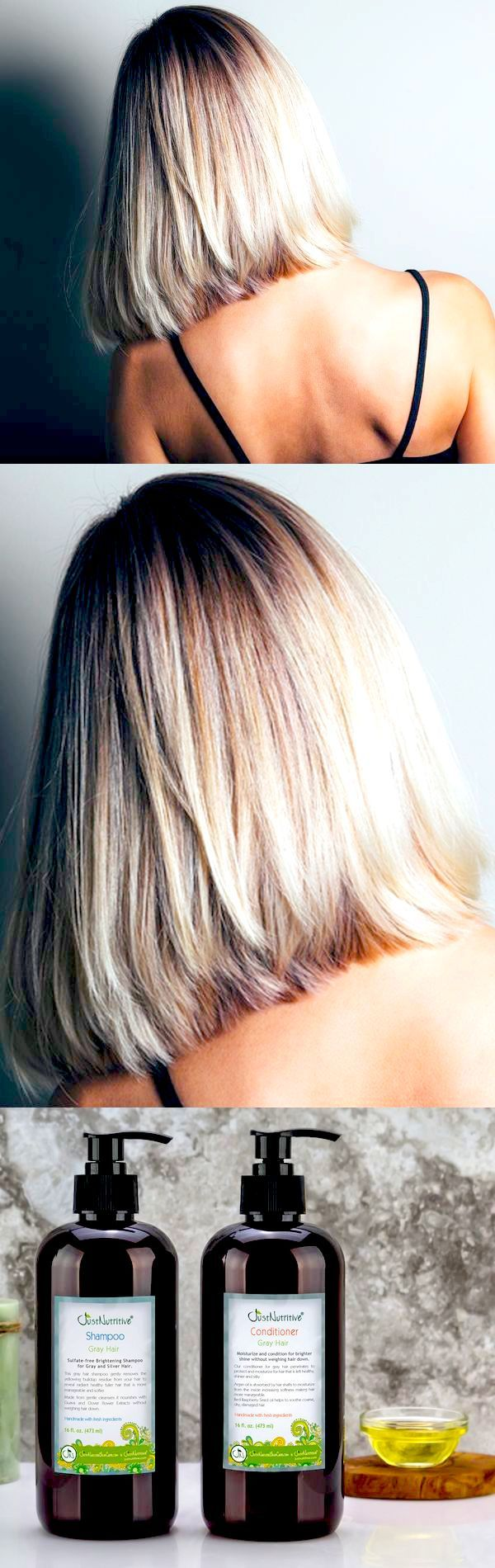 I have had grey/white hair for about 3 years now. It's starting to get lots of white in it. I was concerned about it getting brassy, yellow tones in it. I have researched other shampoos that are purple on the market. There are NONE on the market that have the amazing ingredients that this shampoo does.