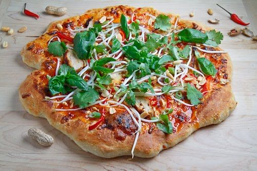 Thai Chicken Pizza with Sweet Chili Sauce | Recipe