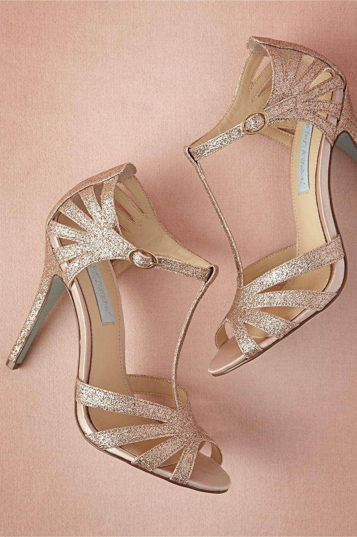 Stardust Heels in champagne from BHLDN