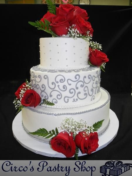 Silver Cake With Whipping Cream