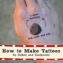 A Bowling Party :: How to Make Tattoos