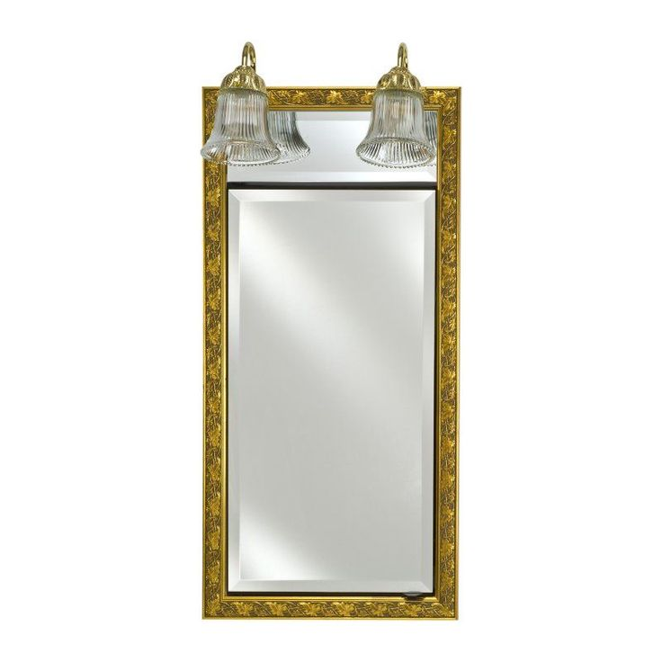 Afina Signature Traditional Lighted Single Door 24W x 34H in. Recessed Medicine Cabinet - SD/LT2434R