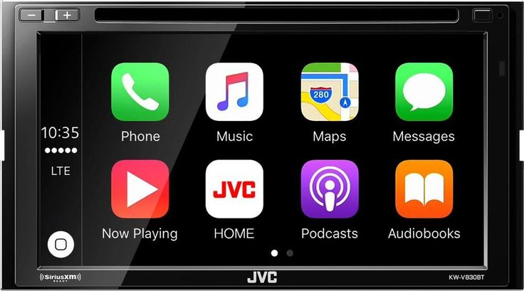 "JVC - 6.8"" - Android Auto/Apple CarPlay™ - Built-in Bluetooth - In-Dash CD/DVD/DM Receiver - Black"