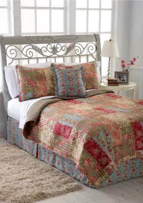 day by day girlsu0027 hawthorne 5piece quilt set multi queen