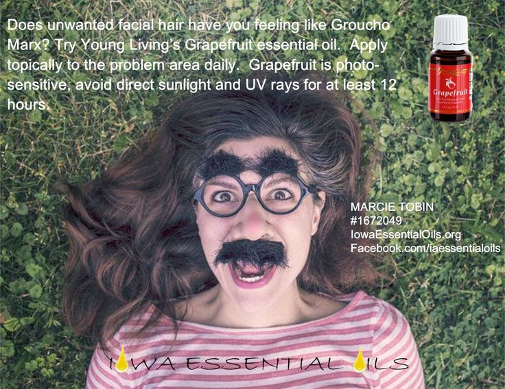 Everyday I find a new use for my Young Living Essential Oils! If you have unwanted facial hair you may want to try Young Livings #Grapefruit essential oil.