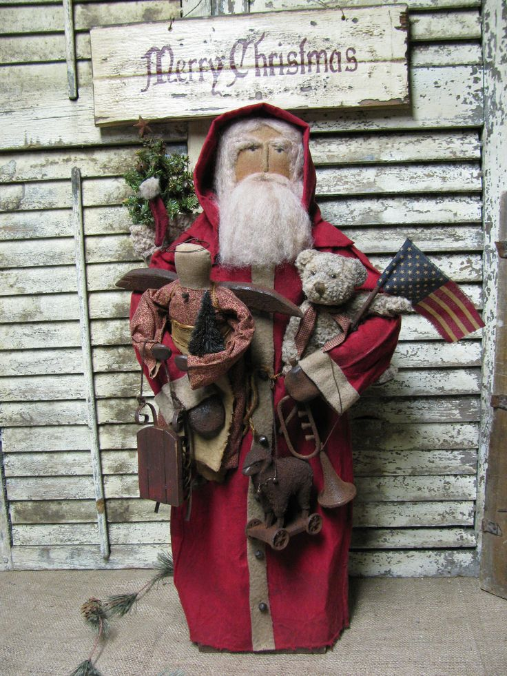 OLde Toys Santa~ By Folk Artist Sue Corlett. 1897 House. I add new items every Sunday! Sold! $369.00