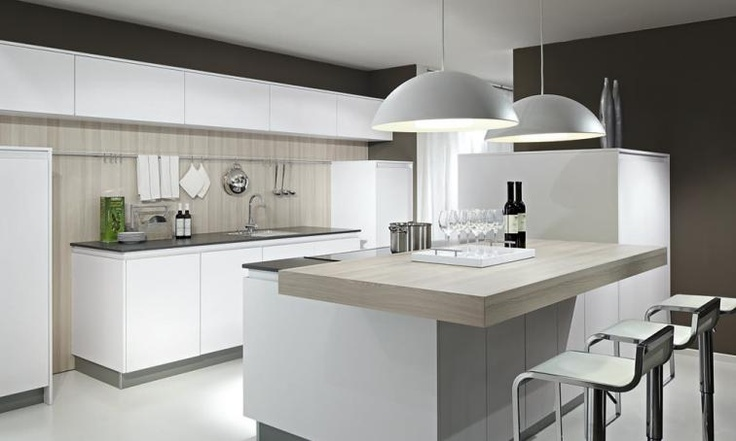 Beeck german handleless kitchen from lime black techno for Lime black kitchens