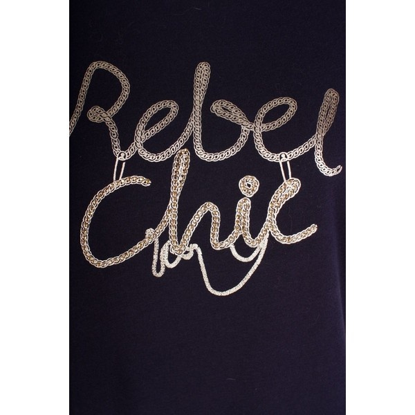 Liu Jo T-Shirt Moda M/C Rebel in Dark Blue by None, via Polyvore#ribelle ma con #classe oggi per me la #donna è #rebel #chic  now on my #fashionblog http://www.robyzlfashionblog.com