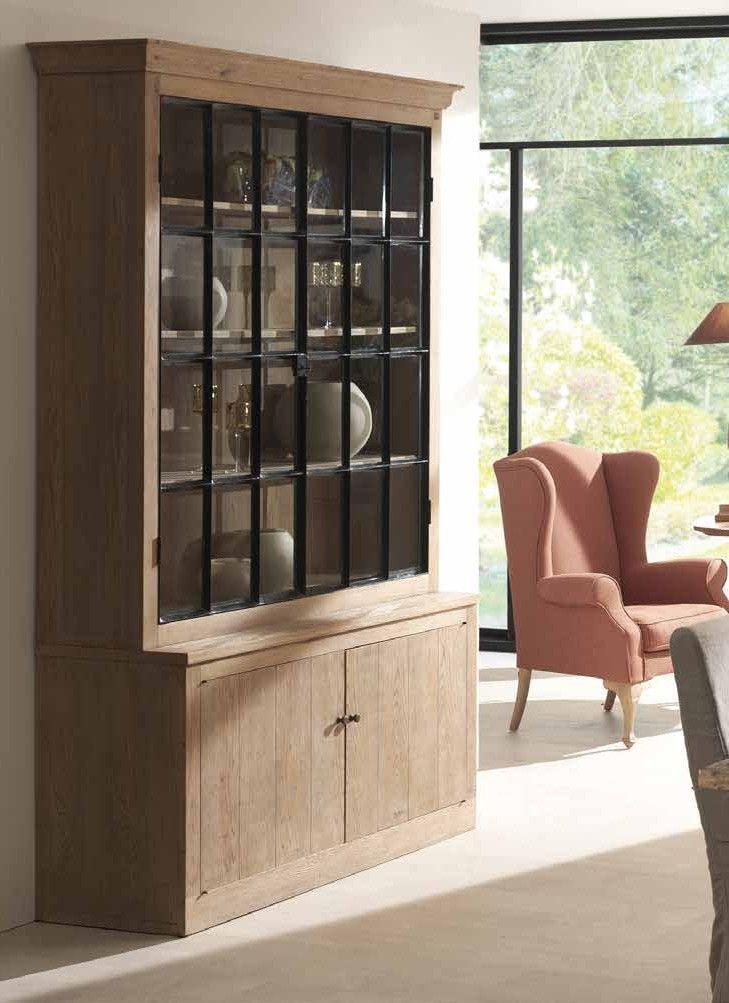 Meuble Vitrine Bois Massif Aline Infos Et Dimensions Longueur 150 Cm Profondeur 50 Cm Hauteur 237 Cm Matiere Chene Home Furniture Home Decor
