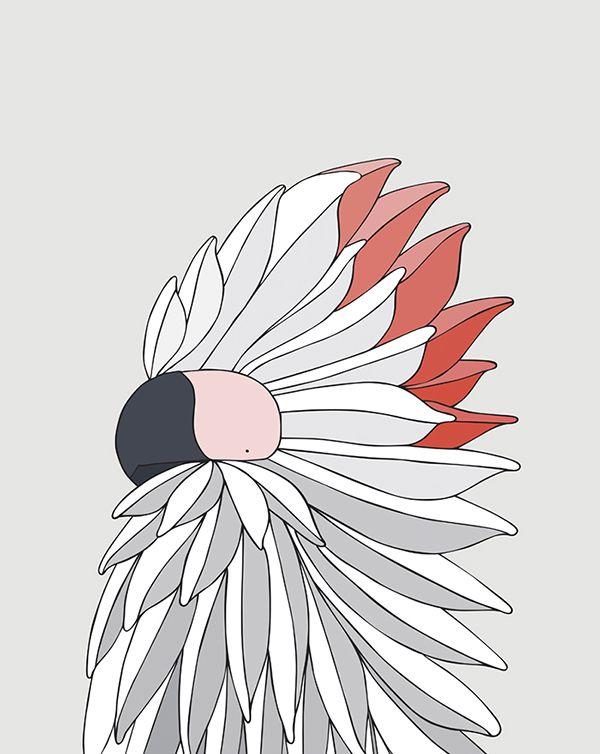 Salmon-Crested Cockatoo #eggpicnic #illustration #design #art #partofthesolution #conservation #education #shop #interior #kids #kidsroom #styling #nature #wild #wildlife #healthy #planet #sydney #australia #australiandesign