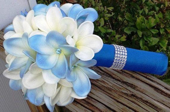 Plumeria Bouquet Bridal Bouquet Frangipani by SilkFlowersByJean, $75.00