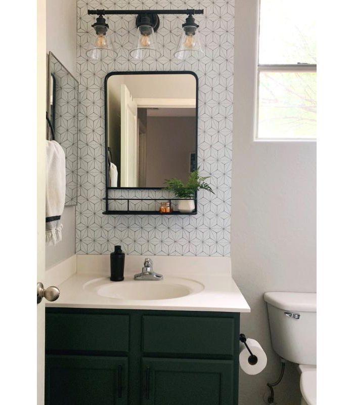 20 X30 Pharmacy Mirror With Metal Shelf Black Threshold Small Bathroom Mirrors Small Bathroom Vanities Small Bathroom Decor