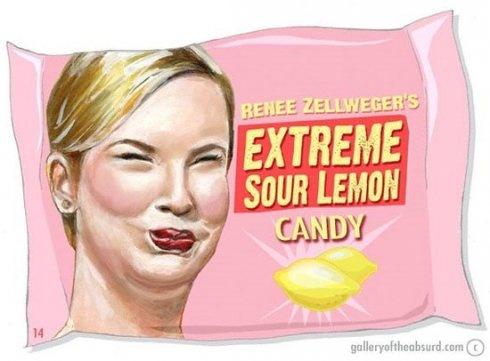 : Face, Sour Lemon, Renee Zellweger, Funny Stuff, Humor, Funnies, Lemon Candy, Extreme Sour