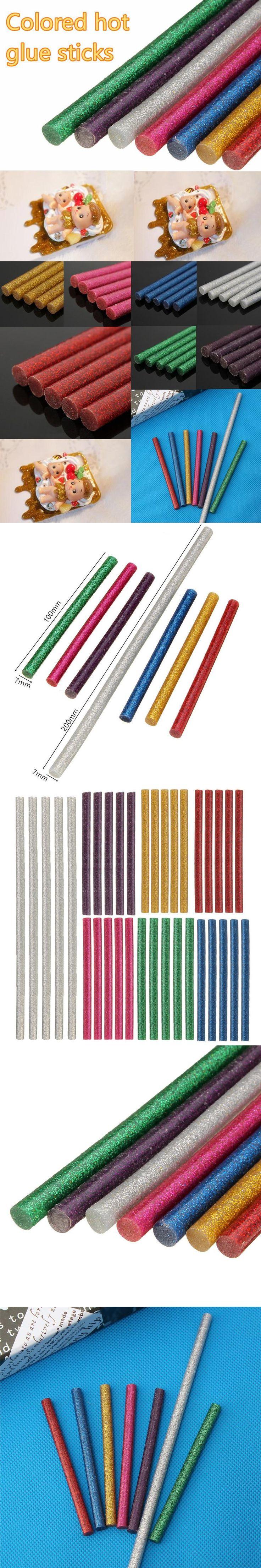 5 pcs 7x100mm 7x200mm Hot Melt Glue Sticks For Electric Glue Gun Car Audio Craft Repair General Purpose Adhesive Sticks