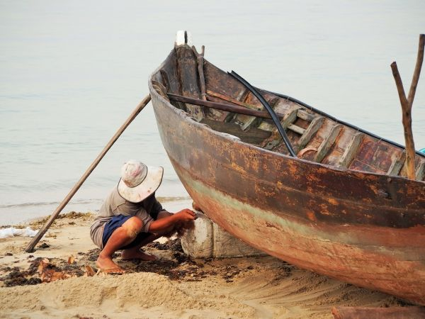 Cham Island fishing boat