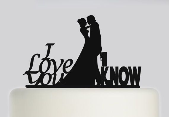 Star wars Han Solo & Princess leia Acrylic wedding Cake topper wedding cake decoration other colours available iconic statement