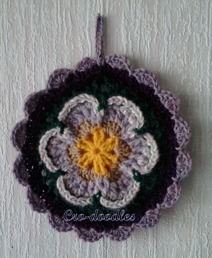 Part 1 of Sophie's Mandala by Dedri Uys http://www.lookatwhatimade.net/crafts/yarn/crochet/free-crochet-patterns/sophies-mandala-part-1-small/