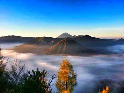 Mount Bromo in East java, Indonesia.