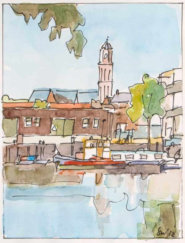 Friese Wal Zwolle - Aquarel - Saskia Wevers