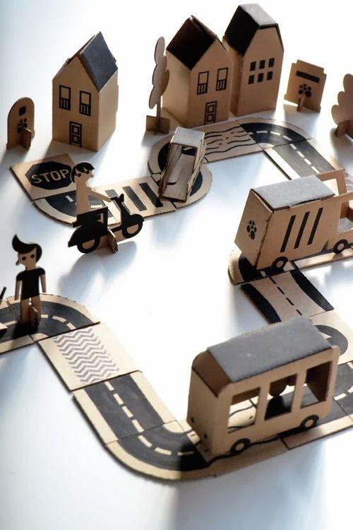 ne jetez pas les cartons des cadeaux de noël !Bloc City by Milimbo/ Petits petits tresors