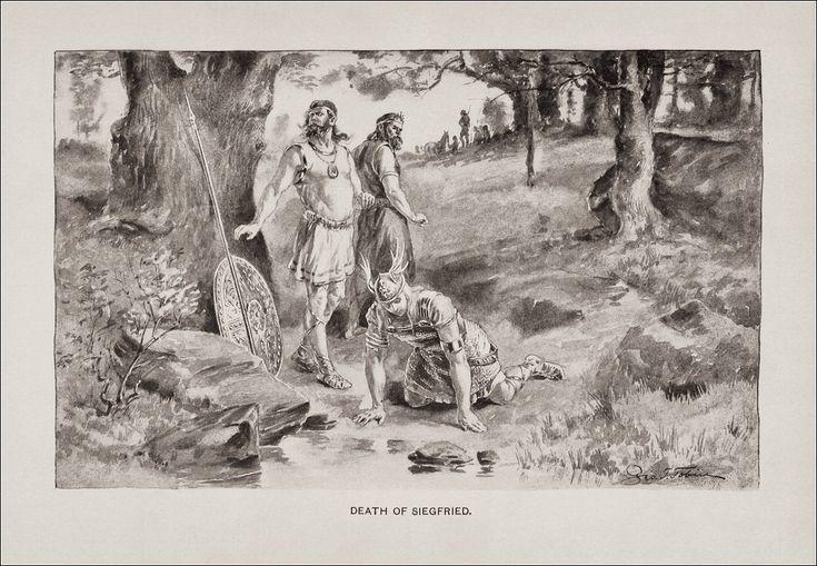 Beowulf en busca de la madre de Grendel- By George Timothy Tobin