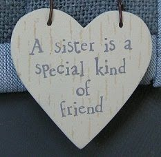 .This is for all my sisters who are so special to me!